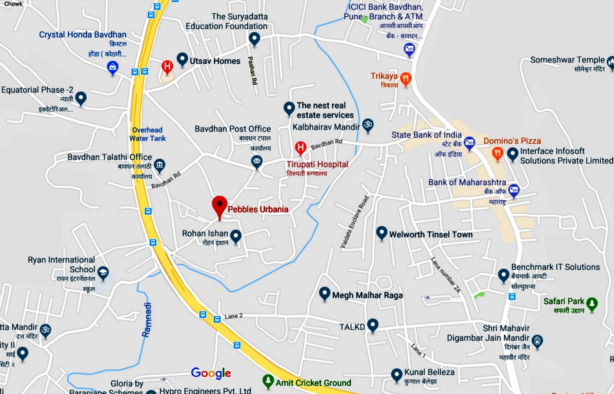 Pebbles Urbania - Google Maps-1