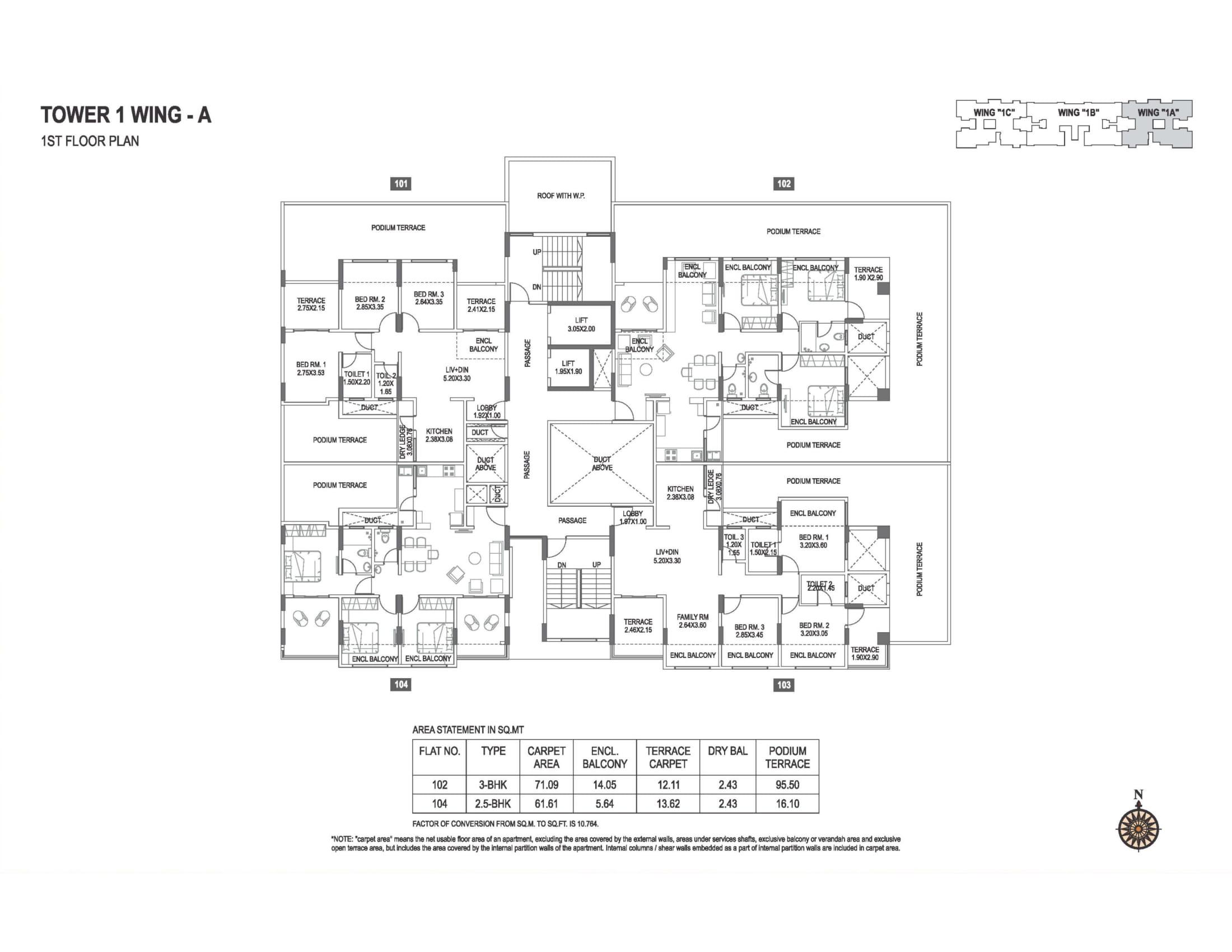 abhiruchi-parisar-tower-1-wing-a-1st-floor-plan-1