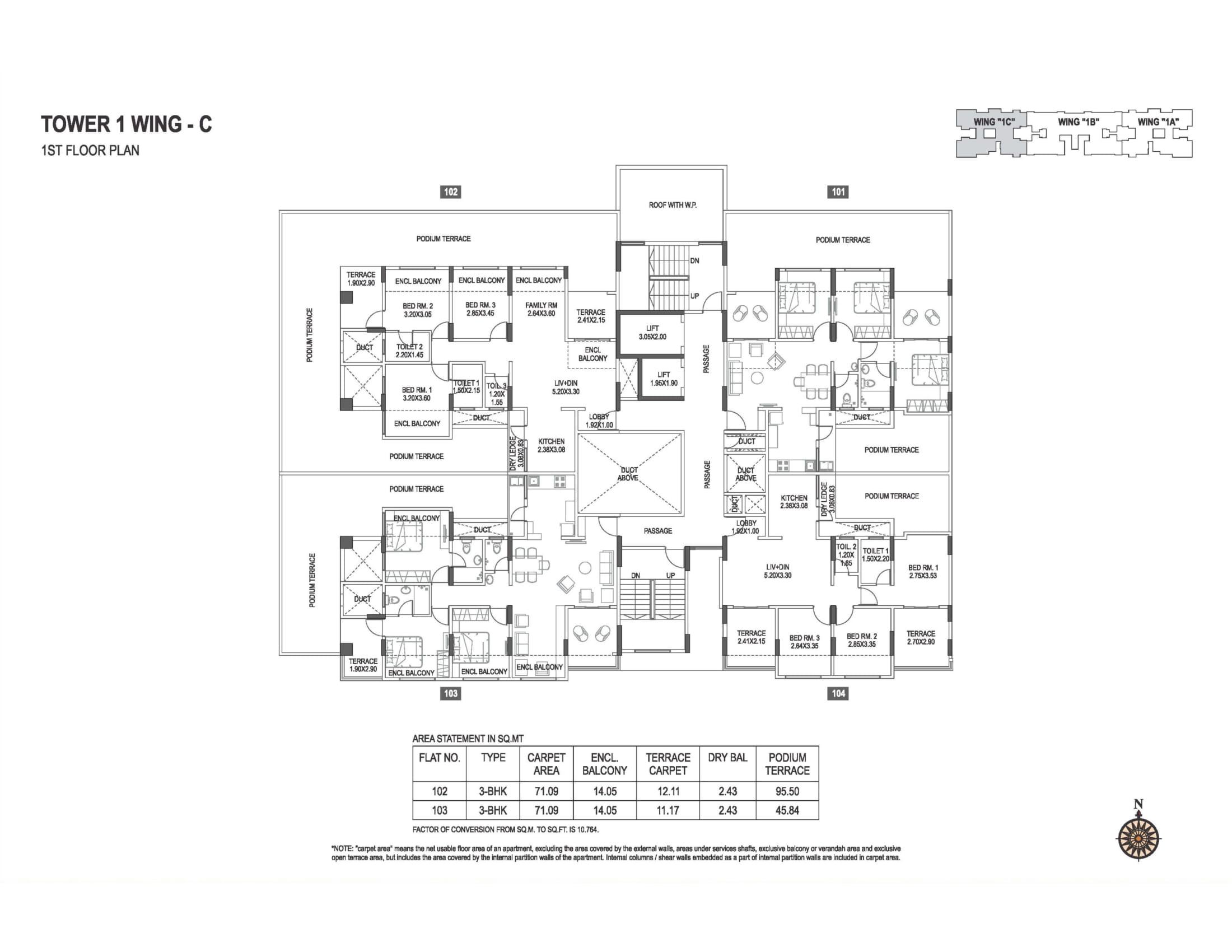 abhiruchi-parisar-tower-1-wing-c-1st-floor-plan-1