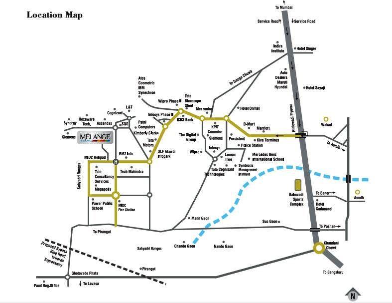 Milange-residences-Location-Map