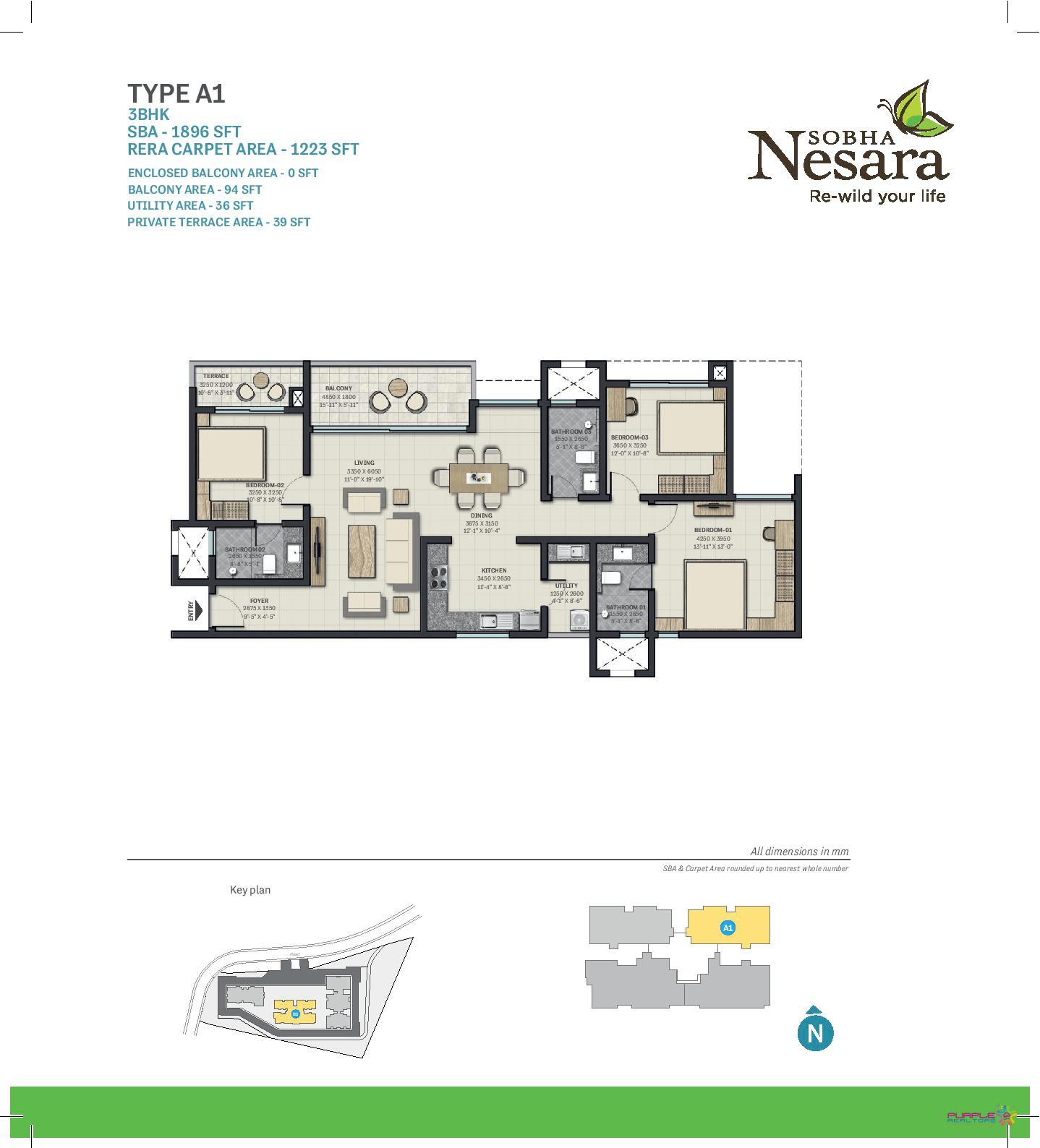 Sobha Nesara Floor Plans