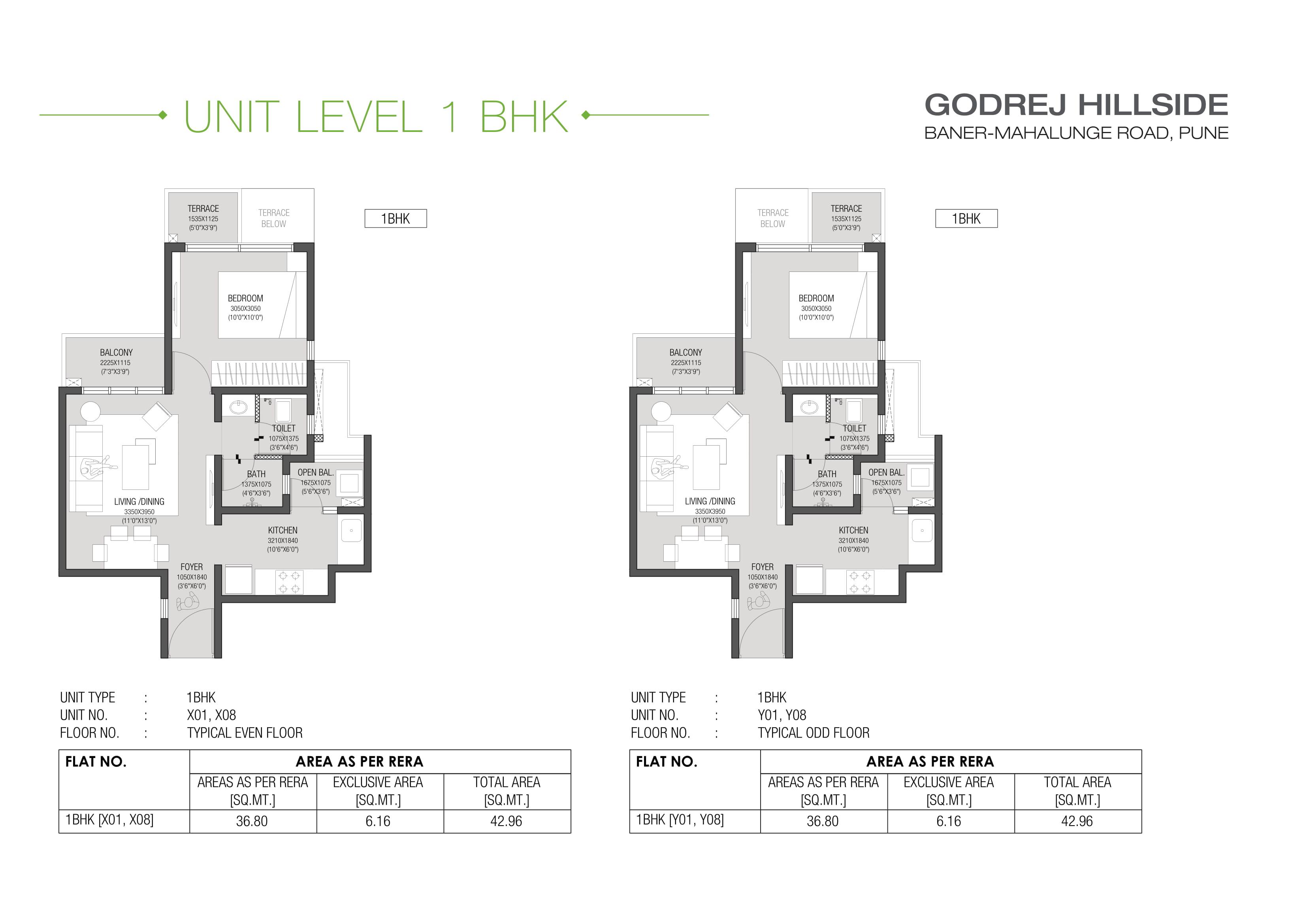 Godrej Hillside Floor Plan 1 BHK