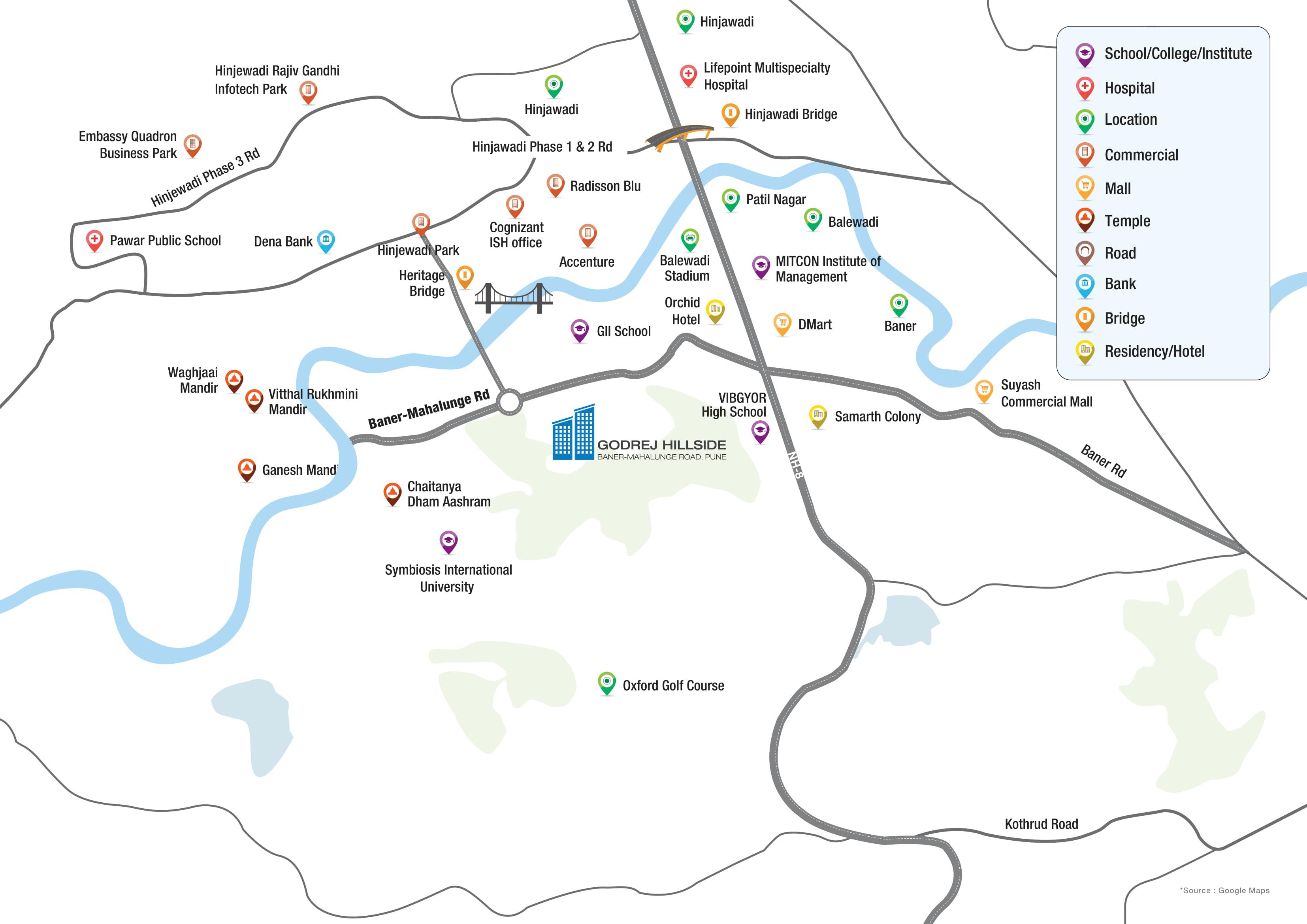 Godrej Hillside Location Map